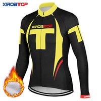 vestuário de esportes de qualidade venda por atacado-XIROATOP New hot sale inverno térmica Velo Ciclismo Jaquetas de bicicleta roupas esportivas de manga comprida de Ciclismo Jerseys vestuário de alta qualidade