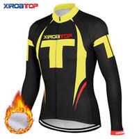 3xl велосипедная куртка оптовых-XIROATOP Новые горячие продажи зимние тепловые флис Велоспорт Куртки велосипед спортивная одежда теплый с длинным рукавом Велоспорт Трикотажные изделия высокого качества