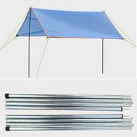 гальваническое железо оптовых-8 Раздел 2PCS Оцинкованный железный стержень для наружного Sun Shelter Backup Thewning Support
