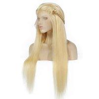 volle spitzeperücke blonde lang groihandel-613 # Blonde Echthaar Lace Front Perücken Lange Gerade Perücke Für Schwarze Frauen Brasilianische Volle Spitze Echthaar Perücken Vorgezupft Großhandel