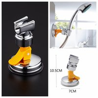 Wholesale adjustable wall brackets - Bathroom Shower Heads Bracket Seat Bathroom Adjustable Shower Holder Rack Bracket Suction Cup Wall Mounted Replacement Holder GGA363 30PCS