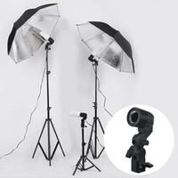luz de flash yongnuo al por mayor-Fotografía Photo Studio Lighting Lámpara de bombilla individual Holder E27 Socket Flash Umbrella Soporte de montaje US / EU Plug