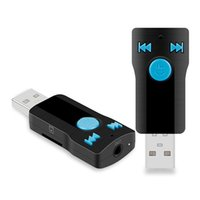 Wholesale usb audio receiver online - 2018 BC07 USB Bluetooth Audio Receiver Car Bluetooth Handsfree MP3 Player Adapter Convenience with AUX and tf card support OTH757