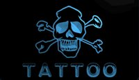 Wholesale open office lighting - F111 b Tattoo Open NEW 3D LED Neon Light Sign Retail and Dropshipping Wholes 8 colors Customize on Demand