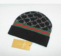 Wholesale brand cc online - Women s Fashion Knitted Cap Autumn Winter Men Cotton Warm Hat CC Skullies Brand Heavy Hair Ball Twist Beanies Solid Color Hip Hop Wool Hats