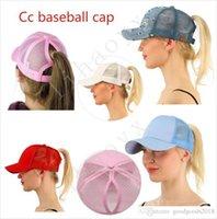Wholesale ms spring - Wholesale Hot CC Ponytail Baseball Cap Ms. Ponytail Hat Fashion Girl Basketball Hat Vest Ponytail Hat
