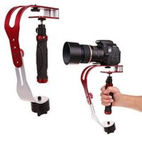 Wholesale Camera Steadicam - New Aluminum alloy Handheld for DSLR Camera Steadicam Gimbal Stabilizer Action Camera Stabilizer bracket with antiskid handle