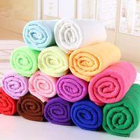 Wholesale Floor Waxing - 25*25cm Microfiber Car Cleaning Towel Microfibre Detailing Polishing Scrubing Waxing Cloth Hand Towel