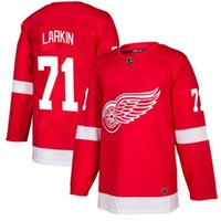 Wholesale Usa Wings - 2018 nhl hockey jerseys cheap custom Men's Detroit Red Wings Dylan Larkin Red Authentic Player Jersey store usa sports ice hockey jersey AD