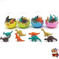 Wholesale cute animal erasers for sale - Group buy Originality Dinosaur Egg Eraser Stationery Pupil Cute Animal Final Award Fun Multi Color Children Learning Goods xh W