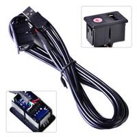 cabo usb kia venda por atacado-Beler 1 Pc New Car 6-Pés USB 3.5mm para USB 3.5mm AUX Flush Mount Traço Cabo de Extensão com Suporte de Montagem para VW Ford Kia