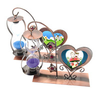 Wholesale single photo frames - Carved crafts single hanging hourglass heart - shaped frame creative gifts Decoration