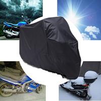 yamaha yol toptan satış-Tüm Sezon Siyah Su Geçirmez Güneş Motosiklet Kapak Honda Kawasaki Yamaha Suzuki Harley Touring Harley Yol Kral Electra Glide