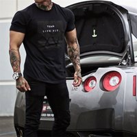 Wholesale Work Out Clothing - 2017 Casual Summer New Clothing Gyms &Casual T -Shirt Mens Fitness Tops Tees Fashion Streetwear Work Out Clothing Sportwear