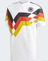 Wholesale vintage white top - Retro VINTAGE CLASSIC 1990 World Cup germany KLINSMANN Matthäus soccer jerseys Home White top thai AAA+ camisas de futebol shirts