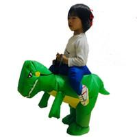 mascote caçoa o dia das bruxas venda por atacado-Dinossauro roupas infláveis tiranossauro rex traje crianças Halloween brinquedos Inflável Traje Roupas Mascot Cosplay Unisex Ao Ar Livre