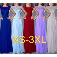 Wholesale red elegant dress long xs - Evening Sleeveless Dresses Ever Pretty Women Fashion Elegant Sexy Lace Patchwork New Long Party Dress Plus Size