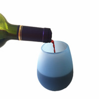 Wholesale portable wine glasses for sale - Group buy Silicone Wine Glass Stemless Tumbler Rubber Beer Mug Eco Unbreakable Cups for Cocktail Drinking Outdoor BBQ Camping Portable Wine Glasses