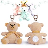 Wholesale bear speakers - Creative Kids Christmas Xmas Gift Cartoon Cute Bear Dolls Bluetooth Speaker Outdoor Wireless Subwoofers LX2303