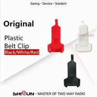 siyah plastik kayış toptan satış-Plastik Kemer Klipsi WLN-C1-C2 Mini Walkie Talkie UHF İki Yönlü Radyo Zastone X6 Retevis RT22 Kemer Klipsi Siyah Beyaz Kırmızı