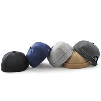Wholesale rounded hat women for sale - Creative Retro Round Beanie Hats For Spring Autumn Fashion Unique Skull Cap Foldable Easy Carry Soft Caps For Men Women gy Z