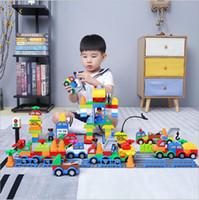 jouets de construction achat en gros de-Blocs de construction en plastique Digital Box 106 blocs de construction de wagons de train numériques jouets pour enfants Intelligence pédagogique pour enfants Safe Environmental