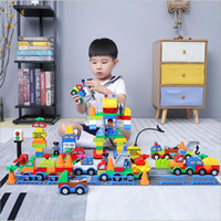Wholesale toy boxes online - Building Blocks Plastic Digital Box digital train car building blocks kids toys Children s Educational Intelligence Safe Environmental