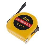 taschenlineal großhandel-Mini Pocket 2m einziehbare Maßband Lineal Tool Builders Home DIY Garage Regel t22