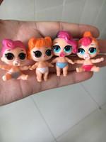 Wholesale kind girls - 8pcs different kind lol bebek Dolls LOL model Toy Educational Novelty Kids Unpacking LOL Doll Ball Girl Action Toy Figures Gifts