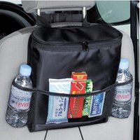Wholesale oxford seat covers for sale - Group buy Multi Pockets Car Cooler Bag Square Oxford Cloth Organizer Cars Seat Hanging Storage Bags High Quality hg BB
