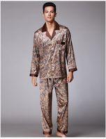 Wholesale Brand Lounge - Men's Pajama Set 2017 Summer Brand Design Luxury Men Leisure 2 Pcs Pajamas Pants Indoor Clothing Sleep Lounge yt04