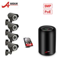 güvenlik hdd toptan satış-ANRAN CCTV 4CH H.265 NVR 5.0MP POE 1920 P Sistemi 2.8-12 MM Lens 78IR Gündüz Gece Görüş Açık Kamera Güvenlik Kiti Ile 1 TB HDD