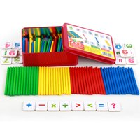 Wholesale mathematics montessori - Magnetic Tin Montessori Education Box Mathematics Count Stick Kids Puzzle Toys Count Cognition Ability Develop Props Hot Sale 6xb Z
