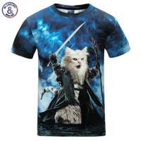 Wholesale Silver Star Tees - Mr .1991inc Cats T -Shirt Men  Women 3d Print Meow Star Cat Hip Hop Cartoon T Shirts Summer Tops Tees Fashion 3d Shirts