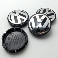 Wholesale wheel cars for sale for sale - Hot Sale mm Car Wheel Cover Badge Wheel Hub VW Center Caps Emblem For VW TOUARET