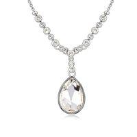 bijoux de mariage luxueux plaqués rhodium achat en gros de-pendentifs colliers de goutte d'eau faits avec Swarovski elements cristal de couleur or blanc plaqué de mode luxueux bijoux de mariage