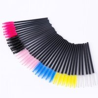 Wholesale micro brush swabs resale online - 2000pcs Disposable Eyelash Brush Mascara Wands Applicator Eyelash Comb Makeup Brushes Individual Lash Removing Swab Micro