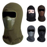 Wholesale masks hoods for men women - New Arrival Warm Hood Face Mask Hat Neck Helmet Beanies For Men Women Exercise Bicycle Thermal Fleece Balaclava Hats Beanies