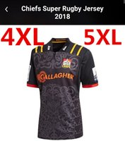 Wholesale Extra New - 2018 Chiefs Super Rugby Home Jersey new Zealand super Chiefs Blues Hurricanes Crusaders Highlanders men euro Extra large size S-3XL-5XL