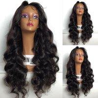 ingrosso parrucche dei capelli umani brasiliani-Parrucche piene del pizzo dei capelli umani per colore naturale di densità 130% dell'onda del corpo dei capelli di Brazillian Remy delle donne nere