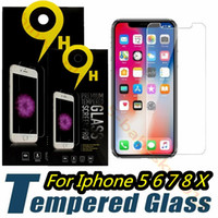 Wholesale iphone 5.5 screen protector anti glare resale online - 9H Tempered Glass Screen Protector Film for iphone Plus X XR XS Max samsung s6 s7 s8 s9 with Retail box