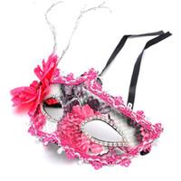 leder mädchen zeigen großhandel-2018 Neue Frauen Mädchen Prinzessin Blume Maske Venedig Leder Masken Dance Performance Show Halloween Dance Party Kleid Decor