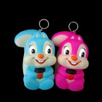 Wholesale antique rings online - Simulation Squirrel Shape Squishy Novelty Relieve Stress Bag Charms Easy To Carry PU Squishies With Key Ring ck B