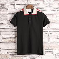 estilos de colarinho de camisa para homem venda por atacado-jj Novo estilo dos homens respiráveis Polos, de alta qualidade design de moda italiana de luxo moda T-shirt dos homens T-shirt crime de colarinho com mangas curtas