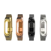 Wholesale xiaomi mi wrist band resale online - mi band bracelet for Xiaomi mi band Metal Strap wrist strap Screwless Stainless Steel Bracelet Wristbands MiBand strap