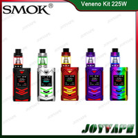 Wholesale Vw Led Light - Authentic SMOK Veneno Kit 225W With TFV8 Big Baby Light Edition 5ML VW TC Memory Modes 12 Colors LED Lights Available 100% Original