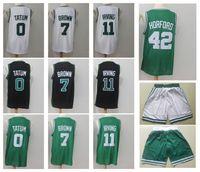 Wholesale men s sports shorts - 11 Kyrie Irving 0 Tatum 7 Brow 42 Horford 20 Hayward Men's Basketball Jerseys Fan version Mens polo shirt Men Sport Jersey