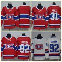 d33ff34f7 2018 Montreal Canadiens  6 Shea Weber 31 Carey Price 92 Jonathan Drouin 13  Max Domi Red White Kids Jerseys