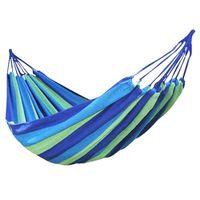 Wholesale Hammock Single - Canvas Single Hammock Outdoor Sleeping Gear For Hiking Backpacking ,Blue 190x80cm