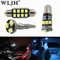 Wholesale vanity boxes - WLJH 12x Canbus Error Free Dome Map Vanity Mirrors Glove Box Trunk LED Interior Light Package For Audi A3 8P S3 2004 - 2013
